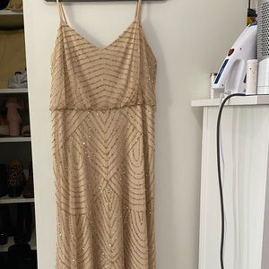Adriana Papell Embellished Blouson Gown